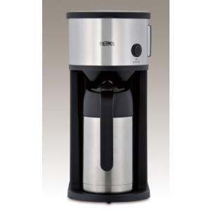 サーモス 真空断熱ポット コーヒーメーカー 630ml ステンレスブラック ECF-700 SBK|simpleplan