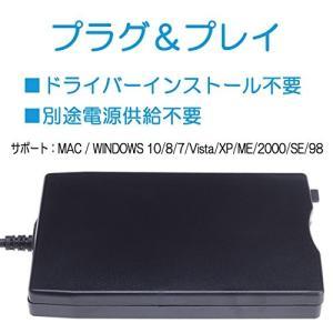 AGM USB 外付け フロッピー ディスク ドライブ 3.5 インチ FDD Floopy Drive Windows ( XP/ 2000 / simpleplan