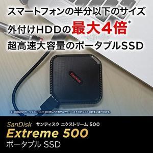 SanDisk エクストリーム500 ポータブルSSD500GB [国内正規品] SDSSDEXT-...
