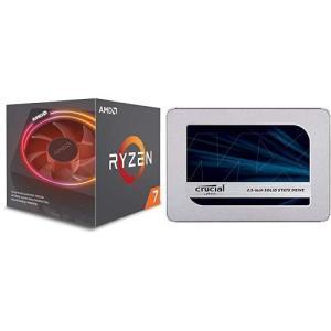 AMD CPU Ryzen 7 2700X with Wraith Prism cooler YD270XBGAFBOX & Crucial SSD simpleplan