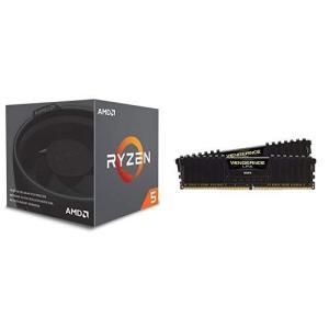 AMD CPU Ryzen 5 2600X with Wraith Spire cooler YD260XBCAFBOX & CORSAIR DDR simpleplan