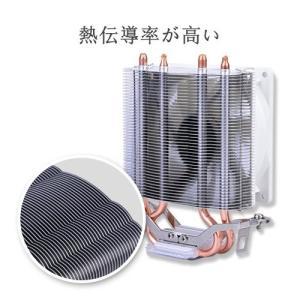 CPUクーラー CPUファン LC-CC-95A 92mmサイドフロー型 銅ヒートパイプ アルミ放熱フィンIntel対応 AMD対応 高熱伝導率 静 simpleplan