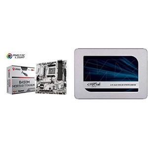 MSI B450M MORTAR TITANIUM M-ATX ゲーミングマザーボード [AMD B...
