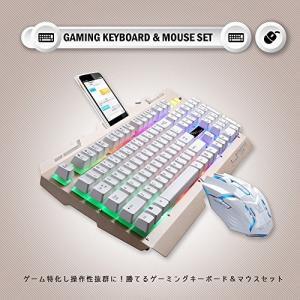 PlumRiver ゲーミングキーボード マウス セット 3色LEDバックライト付き eスポーツ PS4 プレステ4 USB 有線 ゲームキーボード|simpleplan
