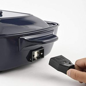 BRUNO ホットプレート グランデサイズ + グランデ用グリルプレート 2点セット (【限定】ネイビー)|simpleplan