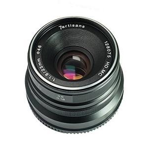 7artisans 25mm F1.8 黒色 マニュアルフォーカスレンズ Panasonic Oly...