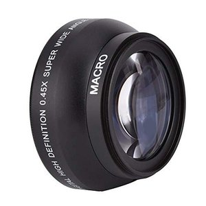 広角レンズ VBESTLIFE ユニバーサル 外付高精細 0.45x広角レンズ 52mmスレッド 自撮りレンズ 収納バッグ付き カメラレンズ|simpleplan
