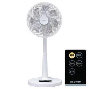 アイリスオーヤマ 扇風機 リビング扇風機 首振り 風量4段階 静音 DCモーター タイマー付 リモコン付 ロータイプ ホワイト 2019年モデル L|simpleplan