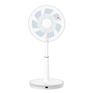 山善 扇風機 30cm リビング扇 マイコンスイッチ 風量4段階調節 静音モード DCモーター搭載 タイマー機能 リモコン付き メタリックブルー Y|simpleplan