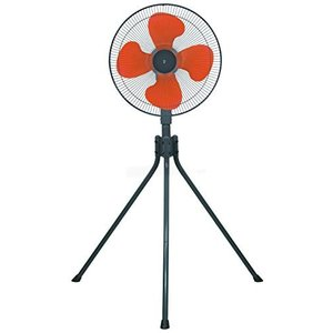 山善 扇風機 45cm 工業扇 スタンド式 押しボタンスイッチ 風量3段階調節 オレンジ YKS-458|simpleplan