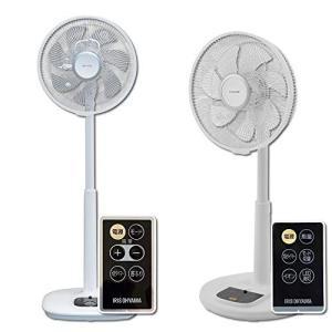 【セット販売】アイリスオーヤマ 扇風機 リビング扇風機 首振り 風量12段階 静音 DCモーター タイマー付 リモコン付 ハイタイプ ホワイト LF|simpleplan