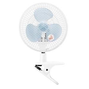 山善 扇風機 18cm クリップ式 卓上 壁掛け 対応 スライドスイッチ 風量2段階切替 ブルー YCS-C188(A)|simpleplan