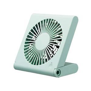 ドウシシャ 卓上扇風機 スリムコンパクトファン 3電源(AC USB 乾電池) 風量3段階 静音 ピエリア ブルー FSU-106U BL|simpleplan