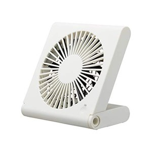 ドウシシャ 卓上扇風機 スリムコンパクトファン 3電源(AC USB 乾電池) 風量3段階 静音 ピエリア ホワイト FSU-106U WH|simpleplan