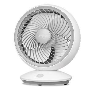 Umimile サーキュレーター 首振り 静音 小型 扇風機 6畳 パワフル送風 省エネ 4段階風量 5枚羽根 卓上 壁掛け ホワイト|simpleplan