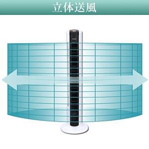 アイリスオーヤマ 扇風機 タワーファン 上下ルーバー タイマー付 リモコン付 リズム風付 風量3段階 TWF-C81T|simpleplan
