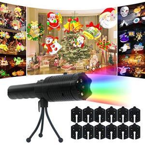 プロジェクター懐中電灯 投影ライト 投影ランプ12枚投影フィル USB&電池式 投影おもちゃ 投影ランプ クリスマス ハロウィーン パーティー 誕生 simpleplan