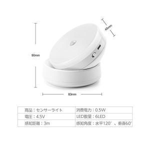RECOO センサーライト LED タッチライト 360度回転可能 取り付け簡単 夜間ライト 自動検知 USB充電式 小型 マグネット 3Mテープ|simpleplan