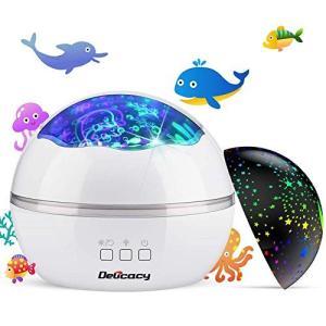 星空ライト 海洋プロジェクター ナイトライト 投影ランプ ベッドサイドランプ プラネタリウム 星空/海洋模倣 USB/電池兼用 360°回転 8モー simpleplan