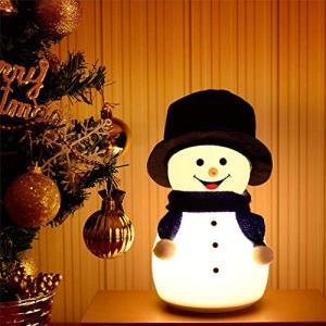 ナイトライト LED シリコン USB充電 7色 呼吸ランプ クリスマス 雪だるま 雰囲気作り タッチ式スイッチ 間接照明 音楽 癒し 萌え かわい simpleplan