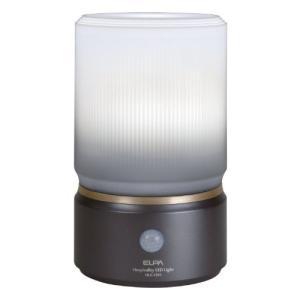 ELPA センサーライト もてなしのあかり 乾電池式 玄関・お庭・リビングにおすすめ 外でも使える防雨形 6W白色LED HLH-1202(DB)|simpleplan