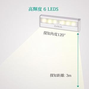 ORIA センサーライト 室内 人感と明暗センサー 電池式 小型 マグネット付き 自動点灯 消灯 懐中電灯 設置便利 軽量 玄関 階段 クローゼット|simpleplan
