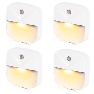 LEDナイトライト足元灯 常夜灯 Bestliving ベッドサイドランプ 明暗センサー コンセント 暖色眩しくない 寝室/階段/廊下/浴室/暗い部|simpleplan