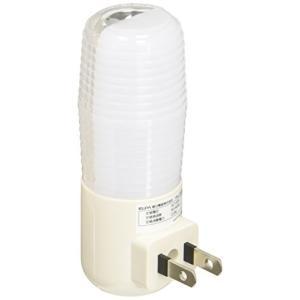 ELPA LEDナイトライト 明暗センサー コンセント式 白色 ライト部が360°回転 PM-L100(W)|simpleplan