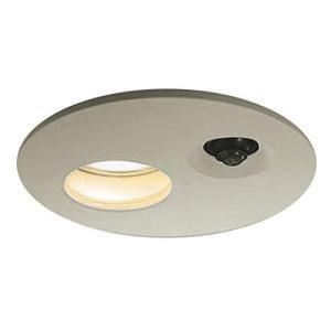 コイズミ照明 人感センサ付ダウンライト タイマー付ON-OFFタイプ 白熱球60Wクラス ウォームシルバー AUE651069|simpleplan
