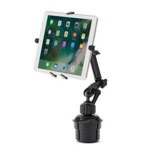 サンワダイレクト iPad タブレット 車載ホルダーアーム カップホルダー/ドリンクホルダー設置 対...