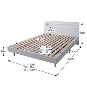 すのこベッド セミダブル〔Alamode〕〔フレームのみ〕 ホワイト 棚・コンセント付きデザインすのこベッド〔Alamode〕アラモード|simpluxury|02