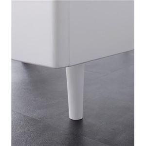 すのこベッド セミダブル〔Alamode〕〔フレームのみ〕 ホワイト 棚・コンセント付きデザインすのこベッド〔Alamode〕アラモード|simpluxury|04
