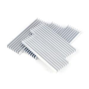 ヒートシンク 冷却 フィン アルミ製  放熱 DIY ロング長方形 5個セット ポイント消化