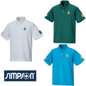 SALE シンプソン (Simpson) テニスウェア メンズ ドライカノコ ボタンダウンシャツ S...