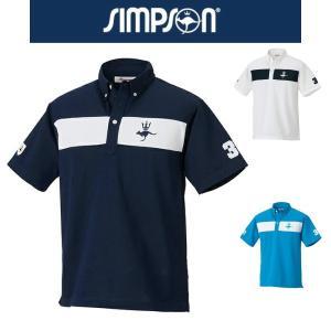 ●左胸にビッグロゴ刺繍のボタンダウンシャツ。  ●フロントのみ切替デザイン。(背面は無地)  ●右袖...