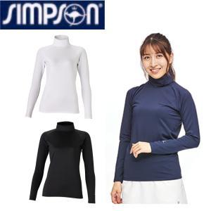 シンプソン Simpson テニスウェア レディース ハイネック 長袖 インナーシャツ STA-U0...