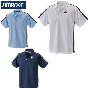 シンプソン Simpson テニスウェア メンズ  ポロシャツ STW-01000|simpson-sports