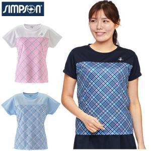 シンプソン Simpson テニスウェア レディース ゲームシャツ STW-02100C|simpson-sports