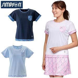 シンプソン Simpson テニスウェア レディース ゲームシャツ STW-02101|simpson-sports
