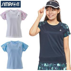 シンプソン Simpson テニスウェア レディース ゲームシャツ STW-02103|simpson-sports