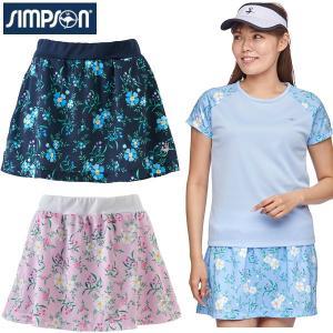 シンプソン Simpson テニスウェア レディース スカート 花柄 STW-02200F|simpson-sports