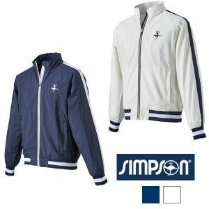 シンプソン (Simpson) STW-51500 テニスウェア メンズ レディース 兼用 ウォームアップ ジャケット