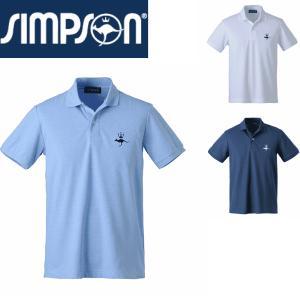シンプソン Simpson テニスウェア メンズ ドライ カノコ ポロシャツ STW-61004