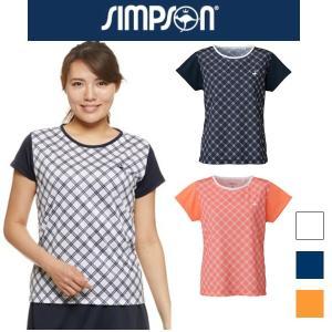 SALE シンプソン Simpson テニスウェア レディース ゲームシャツ 送料無料 STW-82...