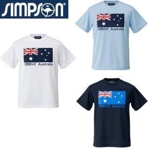 ●豪州国旗をモチーフにしたプラクティスTシャツ。  ●背面は無地。  ●テニス・ランニング・バドミン...