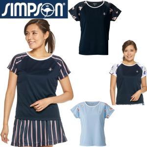 シンプソン テニスウェア レディース ゲームシャツ STW-92101