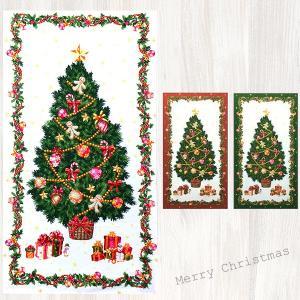 【在庫限り 早い者勝ち!!】【メール便3枚まで】壁に飾る。クリスマスパネルオックス生地(1206)|クリスマス ツリー タペストリー 飾り コットン ファブリック