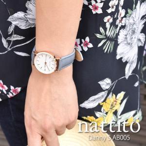 レディース腕時計 nattito ダニー 小 AB005  ファッションウォッチ 合皮 革ベルト プレゼント ギフト 保証1年  メール便OK sincere-inc