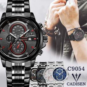 CADISEN メンズ腕時計 クロノグラフ ラグジュアリー スポーツ C9054 腕時計|sincere-inc