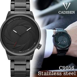 CADISEN メンズ腕時計 オールブラック C9056 ステンレス 腕時計 sincere-inc